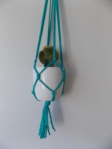 macrame plantenhanger groen