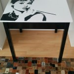 Audrey Hepburn tafel in pop art stijl