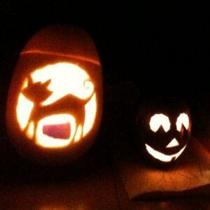 halloween pompoen maken