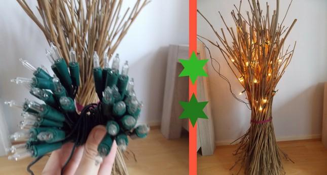 kersttakken met verlichting lampjes