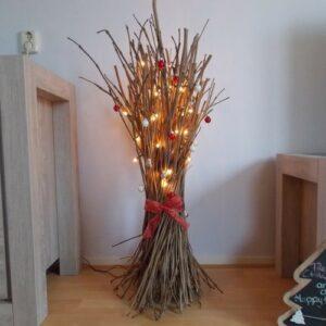 kersttakken met verlichting