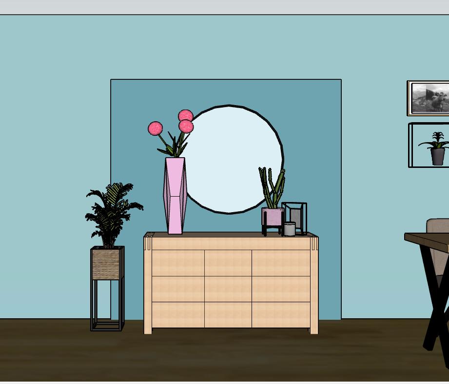 Interieuradvies Thuis Genhout 3D-ontwerp dressoir