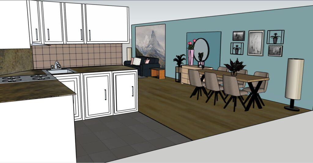 Interieuradvies Thuis Genhout 3D-ontwerp keuken
