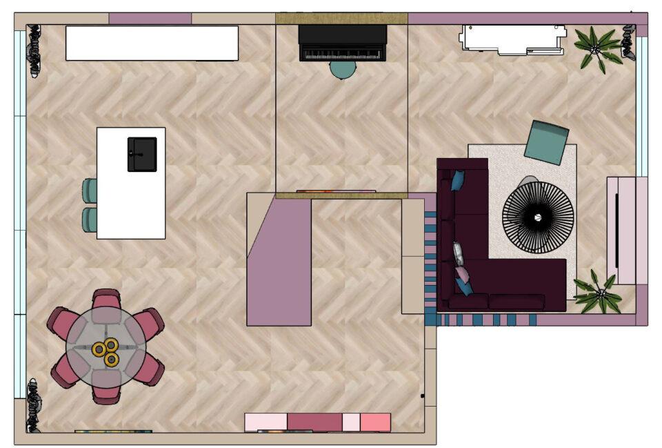 plattegrond kleuradvies nieuwbouwwoning