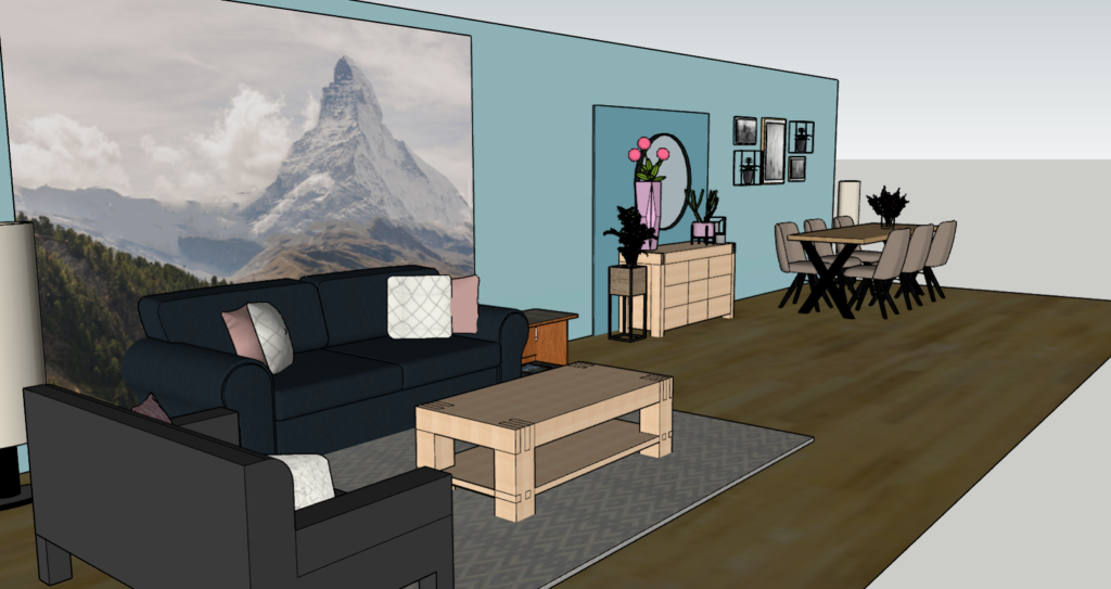 interieuradvies thuis zithoek 3d