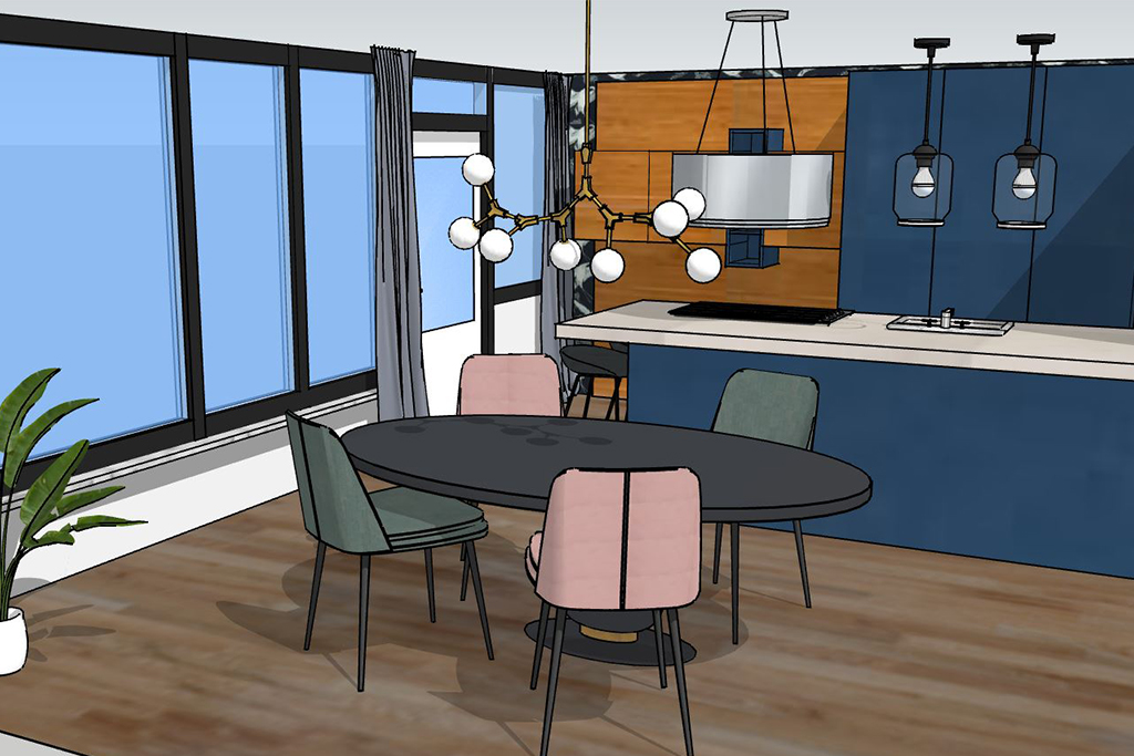 interieuradvies thuis geleen - eethoek en keuken