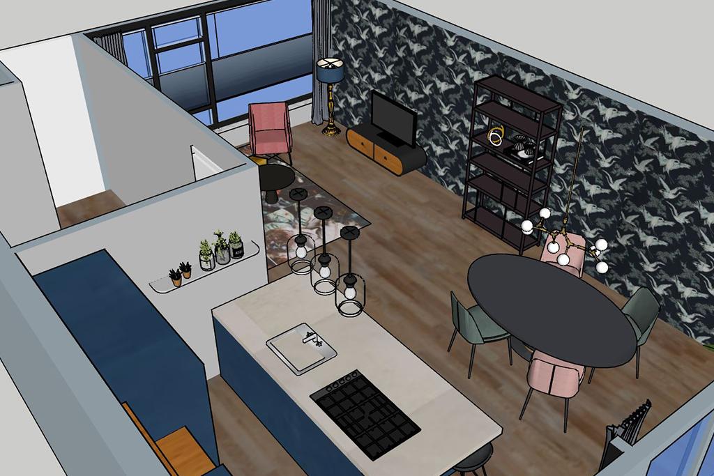 interieuradvies thuis geleen - bovenaanzicht keuken