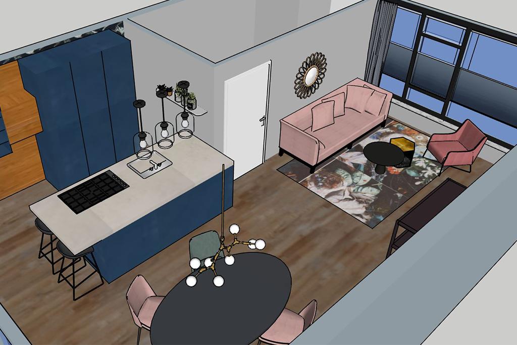 interieuradvies thuis geleen - bovenaanzicht