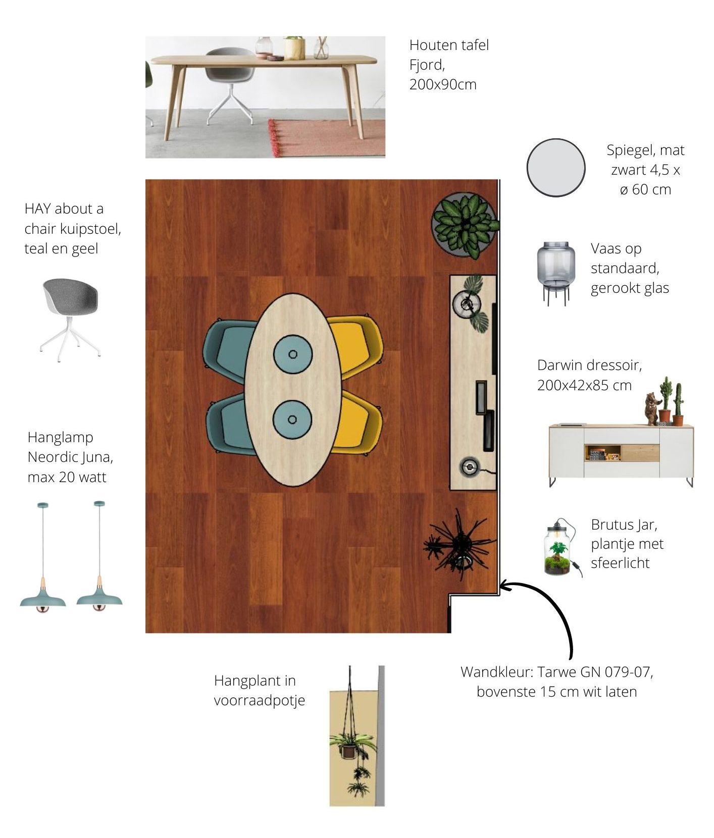 plattegrond met meubelplan nicole