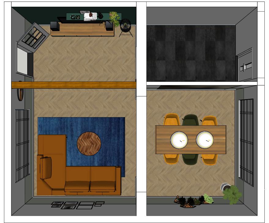 nieuwe indeling woonkamer