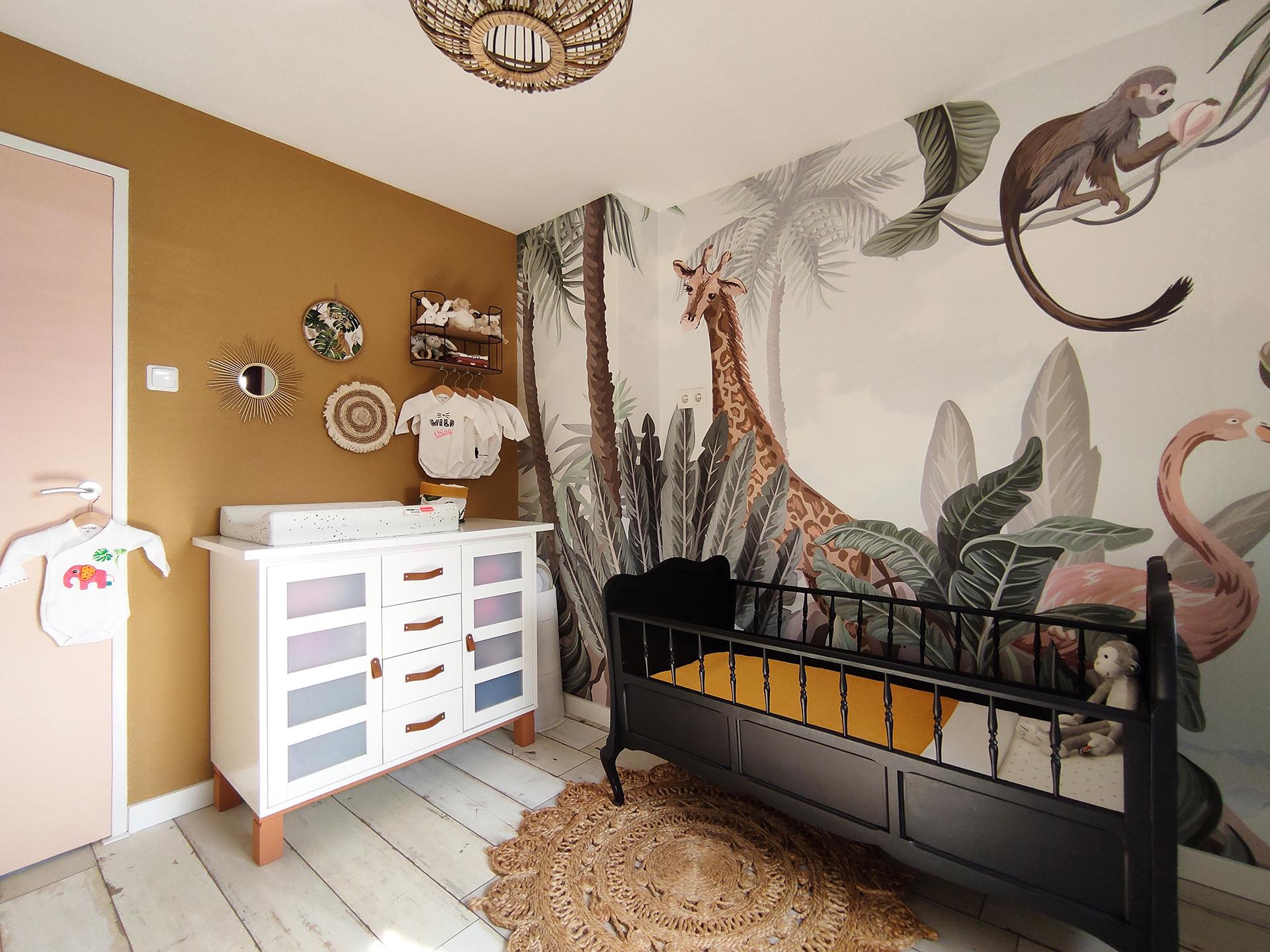 Babykamer jungle thema interieuradvies