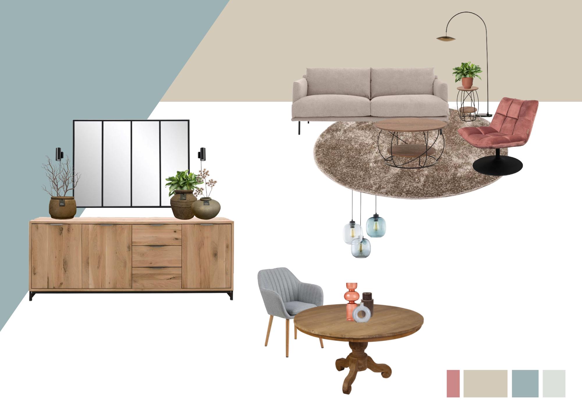 Modern landelijke woonkamer interieuradvies
