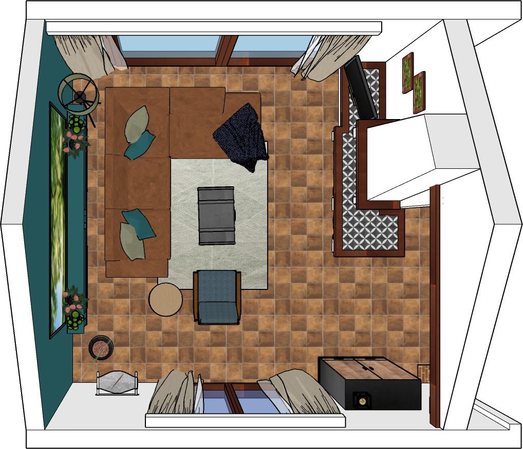 indeling knusse woonkamer woonboerderij